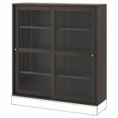 ХАВСТА Шкаф-витрина,темно-коричневый